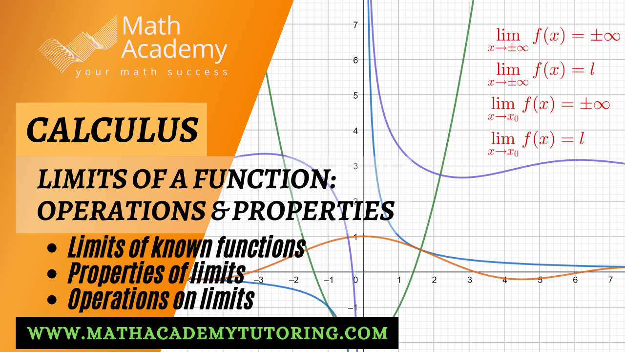Operations & properties of limits - Calculus