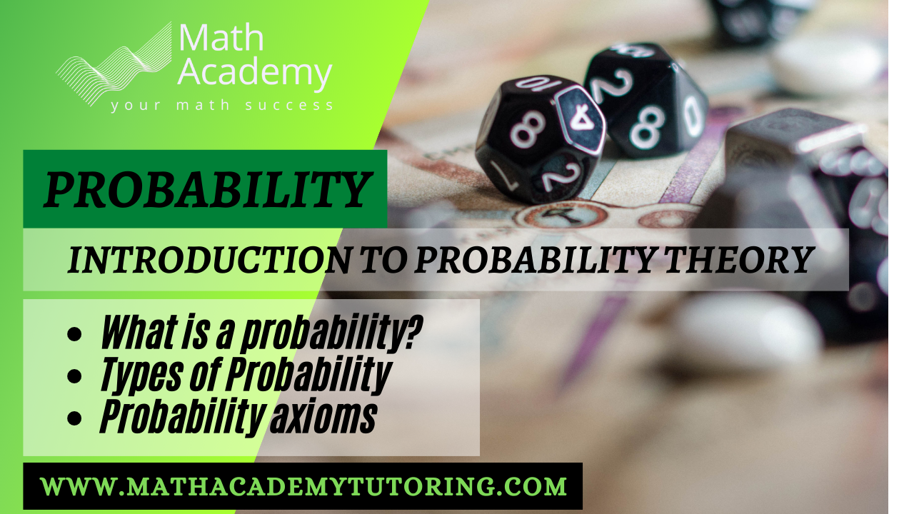 Introducing probability and its types and axioms